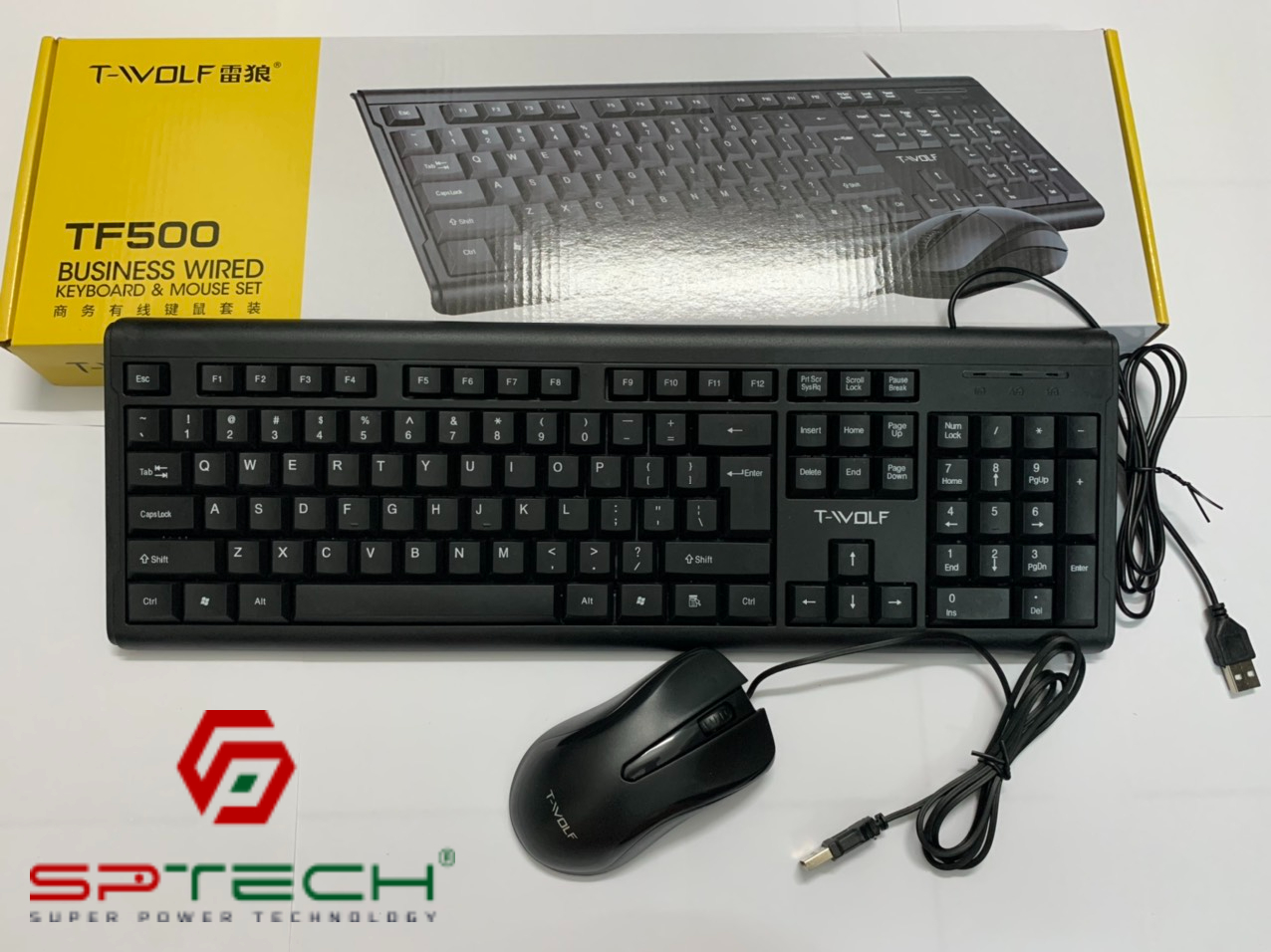 Combo Keyboard + Mouse T-WOLF TF500